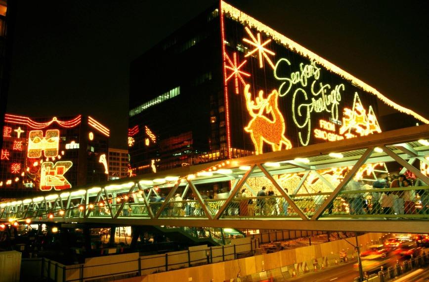 1996年12月,回歸前最後一個殖民地聖誕。(圖片來源:Fotoe)