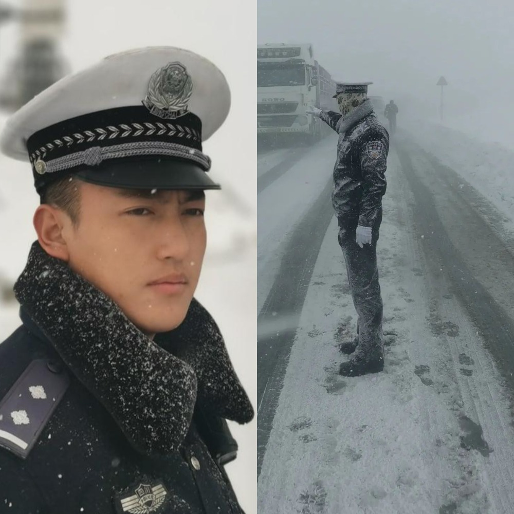 中國新聞-雪雕交警