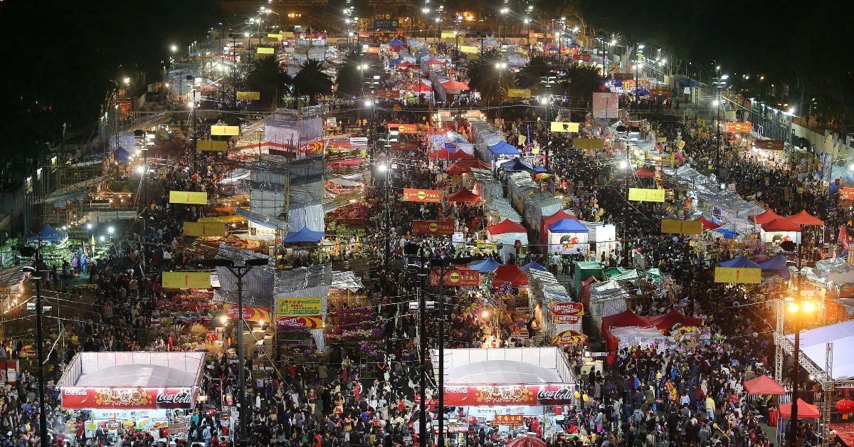 當代中國-飛凡香港-維園66周年難忘年三十晚行年宵迎新年
