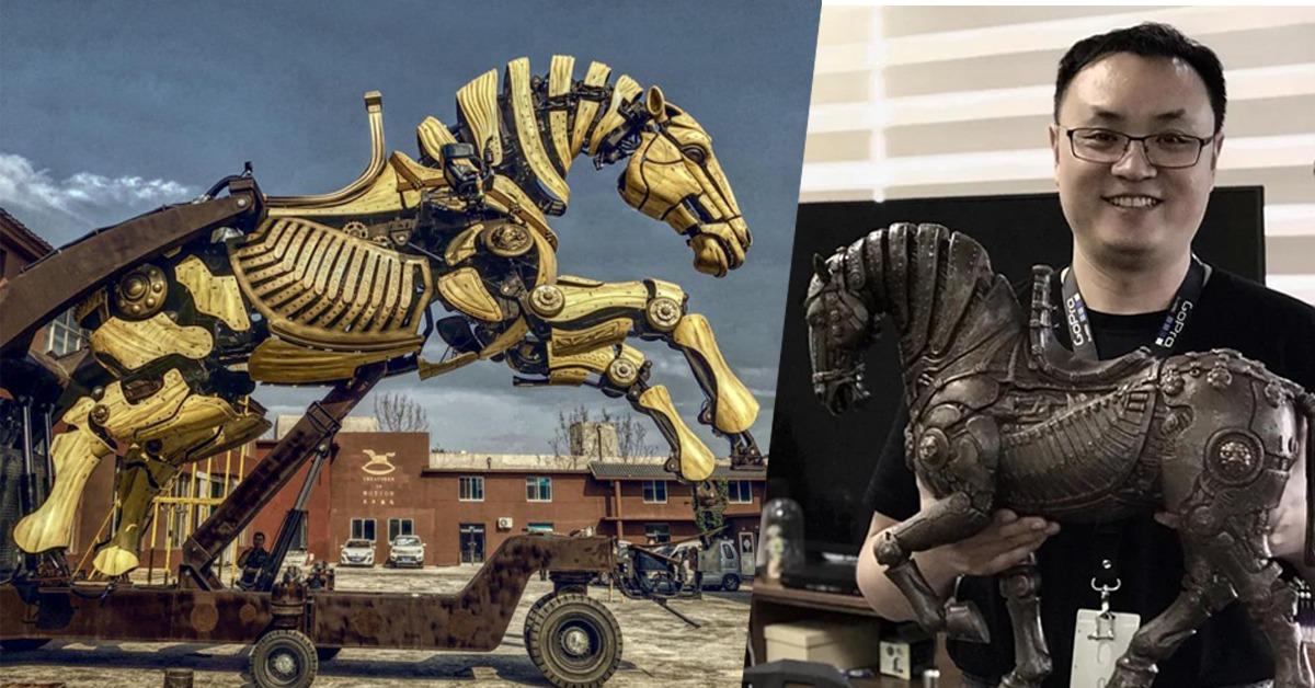 中國文化-巨馬裝置