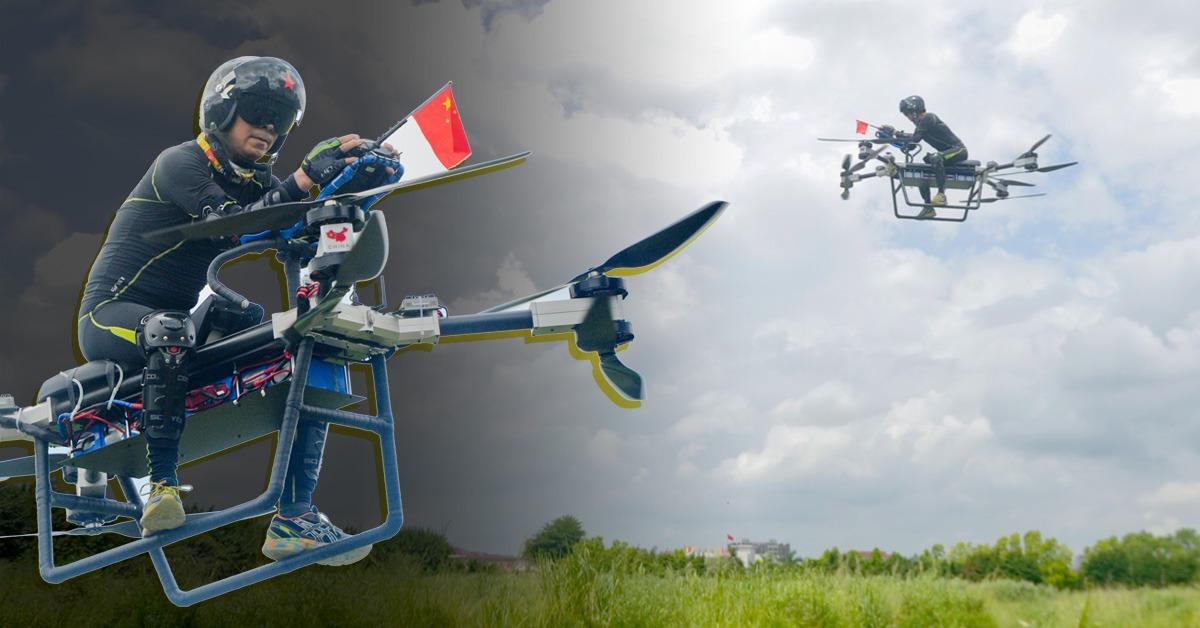 自製飛行電單車