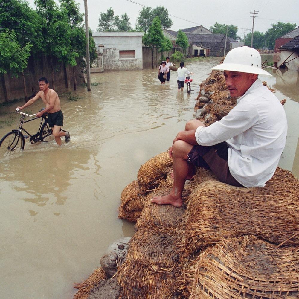 當代中國-改革開放-改革開放後華東水災安徽江蘇成重災區
