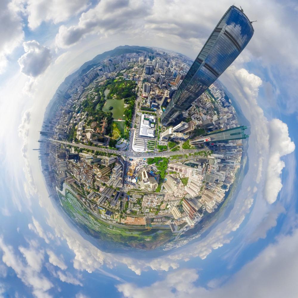當代中國-粵港澳大灣區-深圳人口- 深圳城市中心