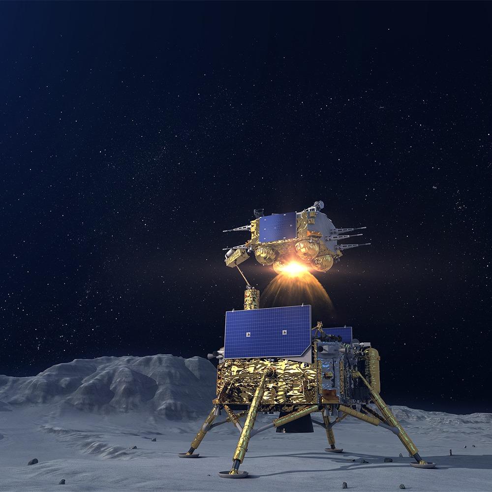 當代中國-今日熱話-嫦娥五號月面起飛展示國旗