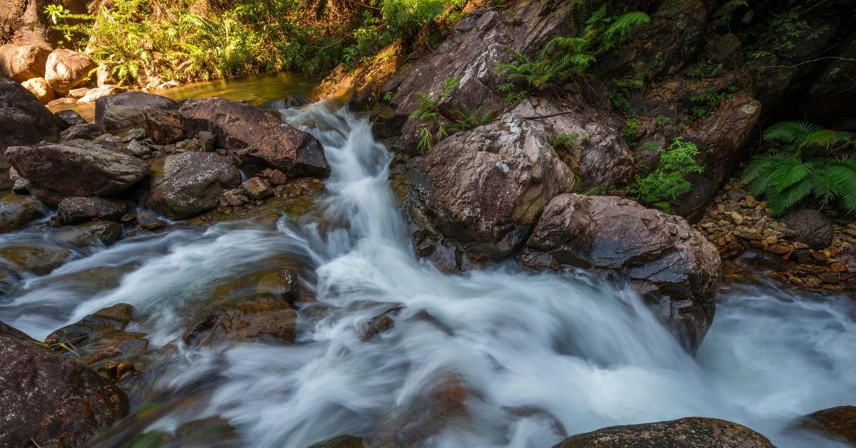 中國旅遊-「天南第一梯」位於廣州增城區的白水寨風景區,沿途不但有瀑布,還有多個觀賞平台,方便觀賞「白水仙瀑」