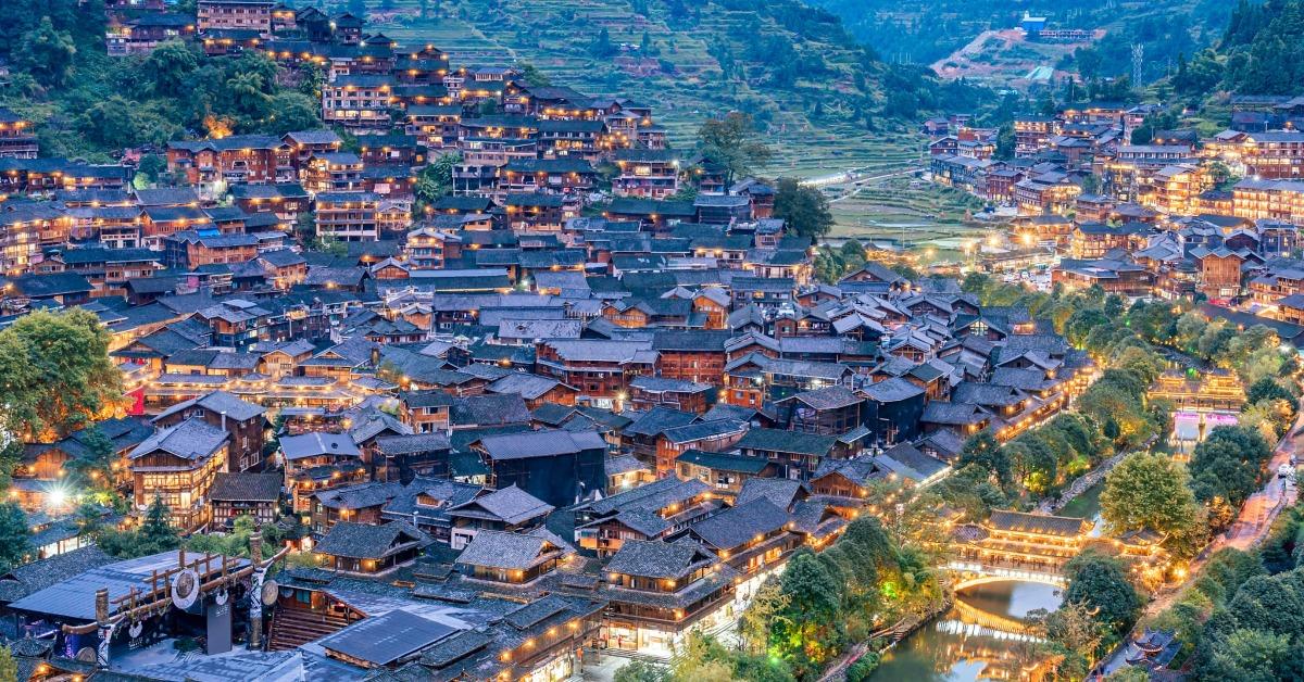 當代中國-旅遊風物-西江苗寨